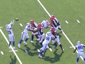Bills tip Andy Dalton's pass right into Tyler Boyd's hand