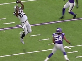 Waller climbs ladder for a difficult 17-yard back-shoulder grab