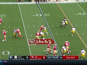 George Kittle takes elevator up a notch for leaping grab