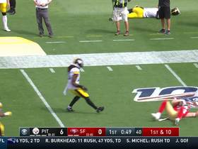 Kyle Juszczyk lays out for an impressive 27-yard diving catch