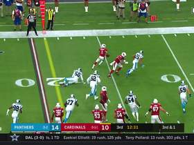 Kyler Murray flies off the edge on zone read for big pickup