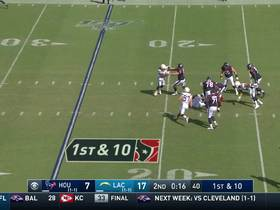 Deshaun Watson miraculously ducks out of Chargers' sack attempt