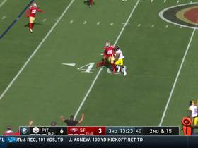K'Waun Williams picks off heavily pressured Mason Rudolph