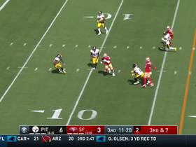Jimmy G's throw to Kendrick Bourne on slant puts 49ers in red zone