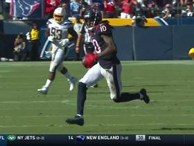 DeAndre Hopkins sprints through Chargers' secondary for 34 yards