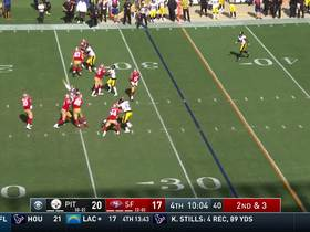 Jimmy G throws flat-footed dime to Marquise Goodwin for 25 yards