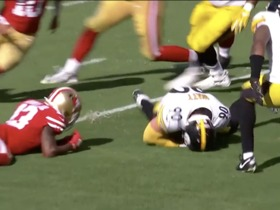 T.J. Watt falls on 49ers' mishandled snap for FIFTH turnover of game