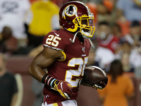 Chris Thompson follows convoy of blockers for 33-yard catch and run