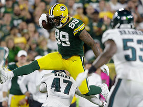 267-pound hurdle! Packers TE goes FLYING over Eagles