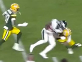 Mason Crosby makes tough tackle on big Miles Sanders kickoff return