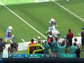 Preston Williams shows amazing concentration with bobbling 12-yard grab