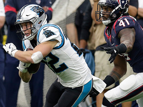 Christian McCaffrey converts on third down for 21 yards