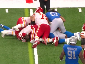 Coleman waits for Watkins to get up so he can deliver Lions' second forced fumble
