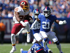 Chris Thompson speeds his way through convoy of blockers for 39 yards