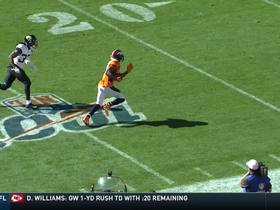 Emmanuel Sanders burns Herndon for 39-yard catch and run
