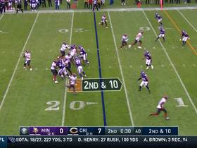 Bears convert on fourth down after Vikings' timeout before the two-minute warning