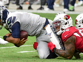 Cardinals swarm Russell Wilson for third-down sack