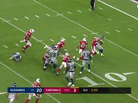 Andy Isabella's tackle pins Seahawks deep in their own territory after punt