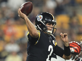 Mason Rudolph channels Big Ben to find new TE Nick Vannett