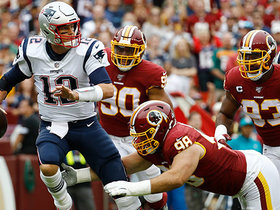 Matt Ioannidis and Ryan Kerrigan team up to sack Brady on third down