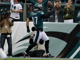 Can't-Miss Play: House call! Eagles LB jumps Falk's throw for 51-YARD pick-six