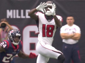 Calvin Ridley makes toe-tap grab for 22-yard gain