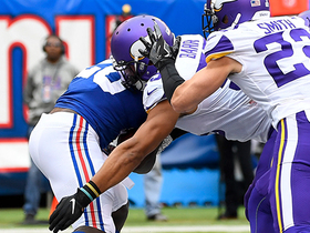Anthony Barr drops Jon Hilliman in end zone for Vikings safety