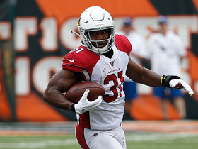 David Johnson pulls down sideline catch for 24 yards