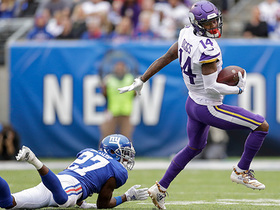 SPIN CYCLE! Diggs twirls off two tacklers for 20-yard catch and run