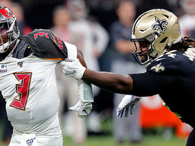 Cam Jordan joins the fun for the Saints' SIXTH sack