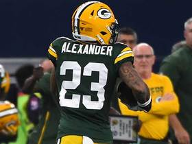 Pass bounces off Amari Cooper's hands to Jaire Alexander for INT