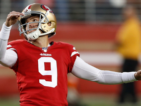 Robbie Gould's 47-yard FG try is no good after slicing wide right