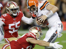 Bosa BULLDOZES double team for another Niners sack