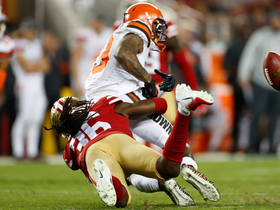 49ers force OBJ fumble on punt return