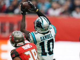 Curtis Samuel tip-toes sideline to extend 30-yard catch