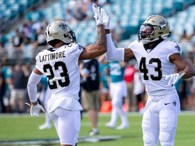 Marshon Lattimore picks off Minshew to open second half