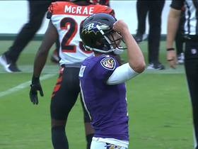 Justin Tucker just barely makes 49-yard FG after hitting upright