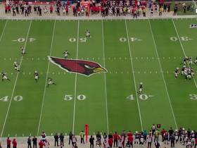 Kyler Murray finds WIDE OPEN David Johnson for 30-yard gain