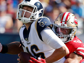 Solomon Thomas beats Brian Allen to sack Jared Goff for huge loss