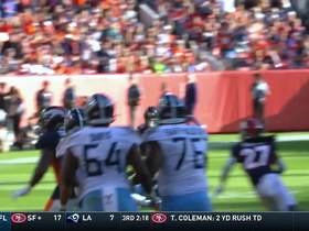 Justin Simmons picks off Mariota's desperation heave