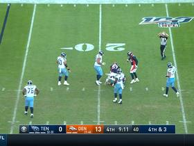DeMarcus Walker clamps down on Ryan Tannehill for fourth-down sack