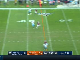 Firkser grabs ball from the CLOUDS for 25-yard gain