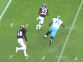 Kareem Jackson's first INT as a Bronco comes at PERFECT time