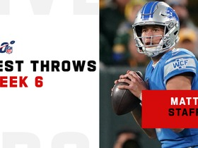 Matthew Stafford's top throws on 'MNF' | Week 6