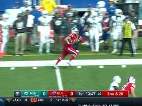 Bills FB turns short throw into HUGE catch and run