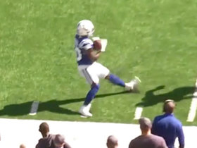 Can't-Miss Play: A tip and a toe tap! Colts WR shows impeccable reaction time on big grab