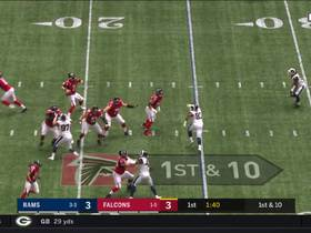 Julio Jones beats Jalen Ramsey for 13-yard sideline catch