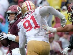 Arik Armstead slips through two blockers for MAJOR third-down sack