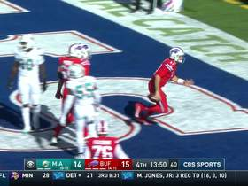 Josh Allen chucks ball into the stands after scoring two-point conversion