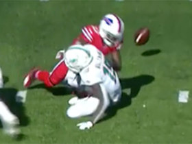 Tre'Davious White punches ball from Preston Williams to force his second turnover